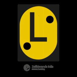 SignFace t.b.v. LAE borden -  545x750mm - Reflecterend