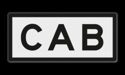 Bord ETCS-cabine-seingeving actief. Treinen zonder ECTS cabinesignalering zo spoedig mogelijk stoppen en opdracht van de treindienstleiding opvolgen. Bord ETCS cabineseingeving - RS 336 - 620x280mm - Reflecterend RS 336