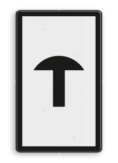 Bord Aanduiding van een lichtsein met een voorziening om in geval van storing de spoorwegovergang te kunnen sluiten. Bord Noodbediening overweg - RS 291a - 300x500mm - Reflecterend RS 291a 291