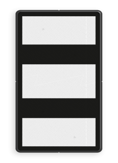 Bord Aanduiding van een achter het lichtsein gelegen bijzonder gevaarpunt. Bord bijzonder gevaarpunt - RS 251a/I - 300x500mm - Reflecterend BB RS 251a/I