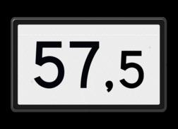 Kilometerbord Kilometerbord aanduiding Kilometerbord (Halve) 20,5 t/m 99,5 - bovenleidingportaal - RS - 500x300mm - Reflecterend KM RS-HKM