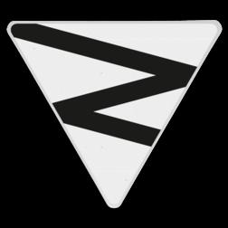 Product Geef een geluidssignaal overeenkomstig sein 'Nr. 605 Een matige lange toon', indien personen het overpad naderen. Zig-zag driehoek - RS 312a - driehoek 500 - Reflecterend OB RS 312a