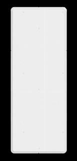Kenbord Toepassing bij seinpaal Kenbord wit t.b.v. portaalsein - RS - 300x800mm - Reflecterend RS KBW