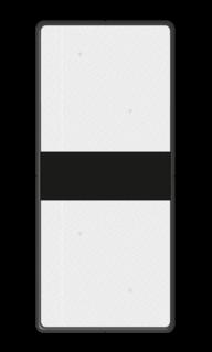 Bord Aanduiding van de nadering van een lichtsein of een stopplaatsmarkering nr. 227a of nr. 227b'. Bord met 2 Reflectorplaten - RS 251 - 200x450mm - Reflecterend BB RS 251-2