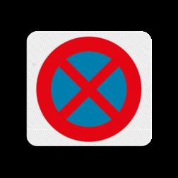 Terreinbordje verboden te parkeren 119x109mm Terreinbord, 119x109, PAS OP!, Kinderen, Spelen