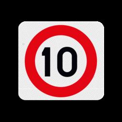Terreinbordje maximum snelheid 10km 119x109mm Terreinbord, 119x109, PAS OP!, Kinderen, Spelen
