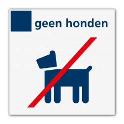 Verbodsbord geen honden - Reflecterend BW VB