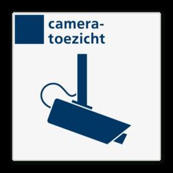 Veiligheidsbord cameratoezicht - Reflecterend BW VB