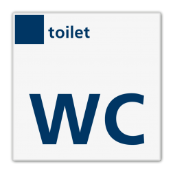 Bord services toilet/WC - Reflecterend BW VB