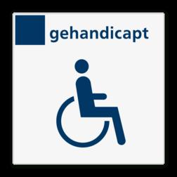 Bord services toilet gehandicapten - Reflecterend BW VB