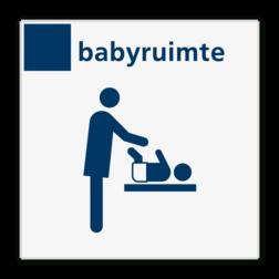 Bord services babyruimte - Reflecterend BW VB