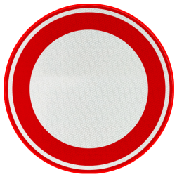 Verkeersbord Gesloten voor alle verkeer Verkeersbord RVV C01 - klasse 3