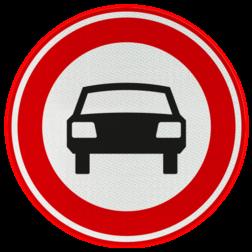 Verkeersbord Gesloten voor voertuigen op meer dan twee wielen Verkeersbord RVV C06 - Gesloten voor voertuigen C06
