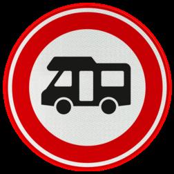 Verkeersbord Gesloten voor campers Verkeersbord RVV C06b - Verboden voor campers C06b verbodsbord, verboden voor camper, sleurhut, verboden, c6