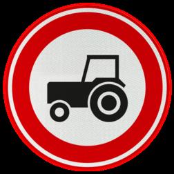 Verkeersbord Gesloten voor motorvoertuigen die niet sneller kunnen of mogen rijden dan 25km/h Verkeersbord RVV C08 - Gesloten voor langzaam verkeer C08