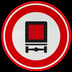 Verkeersbord Gesloten voor voertuigen met bepaalde gevaarlijke stoffen. Verkeersbord RVV C22 - Gesloten voor voertuigen gevaarlijke stoffen C22
