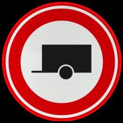 Verkeersbord Gesloten voor motorvoertuigen met aanhangers Verkeersbord RVV C10 - Gesloten voor aanhangers C10