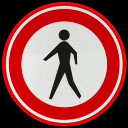 Verkeersbord Gesloten voor voetgangers Verkeersbord RVV C16 - Gesloten voor voetgangers C16