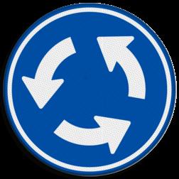 Verkeersbord Rotonde verplichte rijrichting Verkeersbord RVV D01 - Rotonde D01