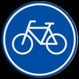Verkeersbord Verplicht fietspad Verkeersbord RVV G11 - Fietspad G11
