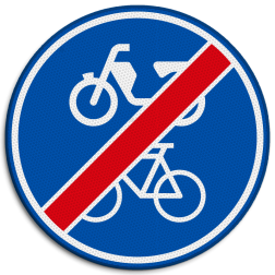 Verkeersbord Einde verplicht fiets / bromfietspad Verkeersbord RVV G12b - Einde verplicht fiets / bromfietspad G12b