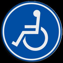 Verkeersbord Mindervalidenpad Verkeersbord RVV G08a - Mindervalidenpad G08a