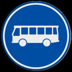 Verkeersbord Rijbaan of rijstrook uitsluitend ten behoeve van lijnbussen. Verkeersbord RVV F13 - Rijbaan of -strook bussen F13