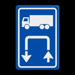 Inritbord Gelegenheid om te keren op terrein / Inritborden op bedrijventerreinen en boerenerven verbeteren verkeersveiligheid aanzienlijk Inritbord BT15bl - vrachtwagens linksom BT15bl