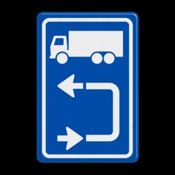 Inritbord Gelegenheid om te keren op terrein / Inritborden op bedrijventerreinen en boerenerven verbeteren verkeersveiligheid aanzienlijk Inritbord BT15blo - vrachtwagens linksom BT15blo