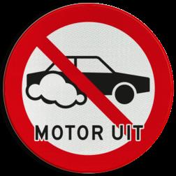 Verkeersbord Motor uitschakelen - personenauto Verkeersbord Motor uitschakelen - Auto