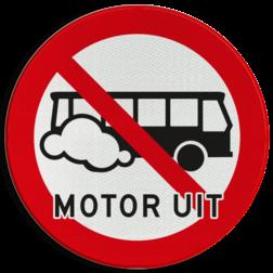Verkeersbord Motor uitschakelen - Bussen Verkeersbord Motor uitschakelen - Bussen