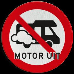 Verkeersbord Motor uitschakelen - Camper Verkeersbord Motor uitschakelen - Camper