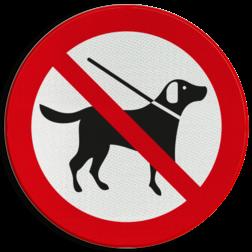 Verkeersbord Verboden hond uit te laten Verkeersbord Honden verboden (ook aangelijnd)