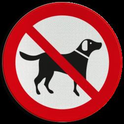 Verkeersbord Verboden voor loslopende honden Verkeersbord Loslopende honden verboden