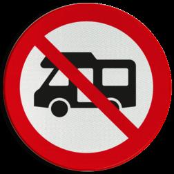 Verbodsbord Verboden voor campers Verbodsbord - Campers verboden
