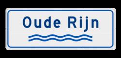 Verkeersbord Riviernaambord Verkeersbord Rivieren naam - wit/blauw OV RB