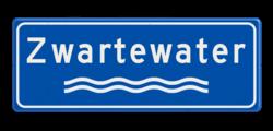 Verkeersbord Riviernaambord Verkeersbord Rivieren naam - blauw/wit OV RB