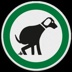 Verkeersbord Gebied om (poepende) honden uit te laten Verkeersbord Hondenuitlaatplaats