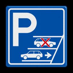 Parkeerbord Verplicht achteruit inparkeren Parkeerbord Achteruit inparkeren verplicht OV PB