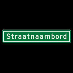 Straatnaambord groen 14 karakters 800x150mm cadeau, kado, straat, eigen bord, straatnaamborden, naambord, straatnaam