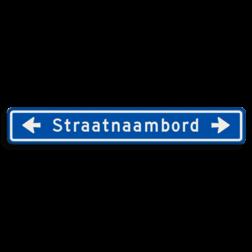 Straatnaambord 18 karakters 1000x150 mm met pijl NEN 1772
