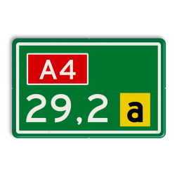 Hectometerbord Hectometerbord Op- of afrit Hectometerbord RVV BB08 500x320mm met letter BB08-01a