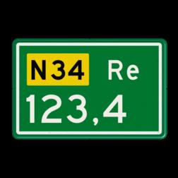 Hectometerbord Hectometerbord Autoweg Hectometerbord RVV BB09 Re 500x320mm BB09-01r