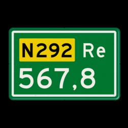 Hectometerbord Hectometerbord Autoweg Hectometerbord RVV BB10 Re 500x320mm BB10-01r