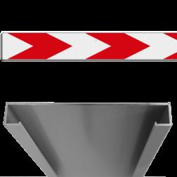 Product Schrikhekplank pijlmotief 1 richting Schrikhekplank RVV BB18-1 C-profiel pijlmotief, 1 richting BB18-1