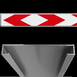 Product Schrikhekplank pijlmotief 2 richtingen Schrikhekplank RVV BB17-1 C-profiel pijlmotief, 2 richtingen BB17-1