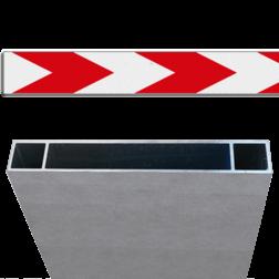 Product Schrikhekplank pijlmotief 1 richting Schrikhekplank RVV BB18-1 Kokerprofiel enkelzijdig pijlmotief, 1 richting