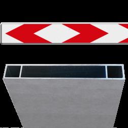 Product Schrikhekplank pijlmotief 2 richtingen Schrikhekplank RVV BB17-1 Kokerprofiel enkelzijdig pijlmotief, 2 richtingen
