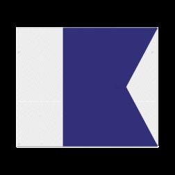 Nautische seinvlag model A - 1200x900x2mm - klasse 3 reflecterend