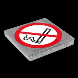 Symbooltegel 300x300mm - Aanduiding roken niet toegestaan betontegel,  stoeptegel, symbooltegel, print, opdruk, bedrukken, roken, verboden